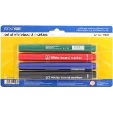 Набор меркеров для белых досок в блистере Economix, 4 шт., ассорти
