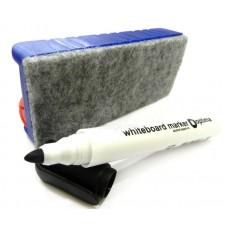 Набор маркеров для белых досок с губкой Optima, 4 шт., ассорти