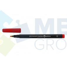 Маркер перманентный Optima, 1 мм, красный