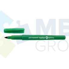 Маркер перманентный Optima, 1 мм, зеленый