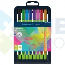 Набор разноцветных лайнеров Schneider LINE-UP, 0,4 мм, 8 цветов