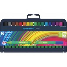 Набор мини фломастеров Schneider LINK-IT, 1 мм, 16 цветов