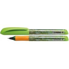 Ручка капиллярная-роллер чернильный Schneider Fiesta, 0,7 мм, корпус зеленый, синяя