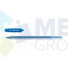 Ручка масляная Economix LINE, 0,7 мм, синяя