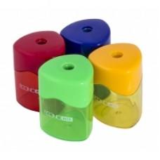 Точилка пластиковая с контейнером треугольная Economix, 2 лезвия