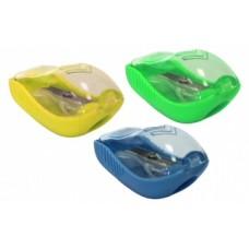 Точилка пластиковая с контейнером и клипом Cool for school Pointer, ассорти
