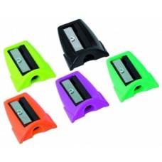 Точилка пластиковая Optima Spot, 1 лезвие, ассорти