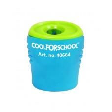 Точилка пластиковая с контейнером и клипом Cool for school Neon, 1 лезвие, ассорти