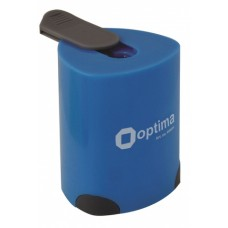 Точилка пластиковая с контейнером Optima, 1 лезвие, ассорти