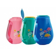 Точилка пластиковая с контейнером и клипом Cool for school Dolphin, 2 лезвия различной длины