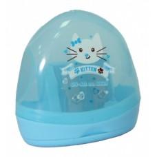 Точилка пластиковая с контейнером Cool for school Kitten, 2 лезвия для карандашей обычных и Jumbo