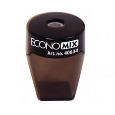 Точилка пластиковая с прозрачным контейнером Economix Style, 1 лезвие, ассорти