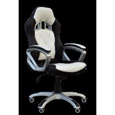 Кресло Примтекс Плюс Nitro B-28, белый с черным