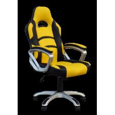 Кресло Примтекс Плюс Racer H-2240, черный с желтым