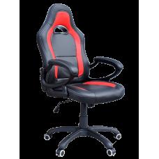 Кресло Примтекс Плюс Racer B-6, черный с красным