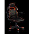 Кресло Примтекс Плюс Fire O-01, черный с оранжевым