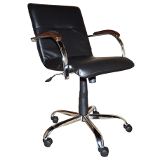 Кресло Примтекс Плюс Samba GTP chrome wood 1.031 CZ-3, черный