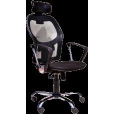 Кресло Примтекс Плюс Vegas GTP Lux Chrome C-11, черный