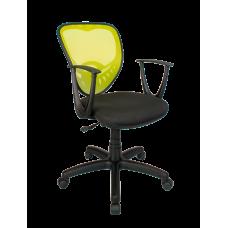 Кресло Примтекс Плюс Ariel GTP С-11/M-03, черный с зеленым