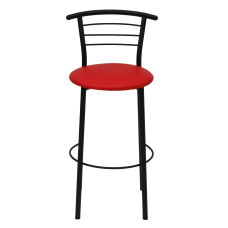 Стул барный Примтекс Плюс 1011 Hoker black S-3120, красный