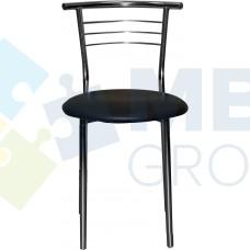 Стул Примтекс Плюс 1011 chrome CZ-3, черный