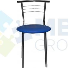 Стул Примтекс Плюс 1011 chrome S-5132, синий