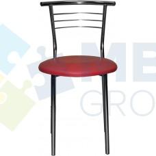 Стул Примтекс Плюс 1011 chrome S-3120, красный