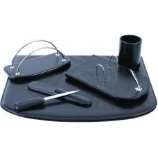 Набор настольный искусственная кожа Cabinet из 5 предметов, черный