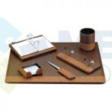 Набор настольный искусственная кожа Cabinet из 6 предметов, коричневый