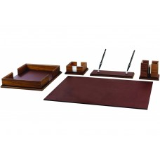 Набор настольный дерево/кожа Cabinet из 5 предметов