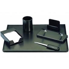 Набор настольный искусственная кожа Cabinet из 6 предметов, черный