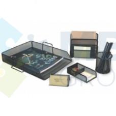 Набор настольный металлический Optima на 5 предметов, черный