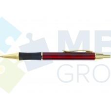 Ручка шариковая автоматическая Optima, корпус бордо + золото в подарочной коробке
