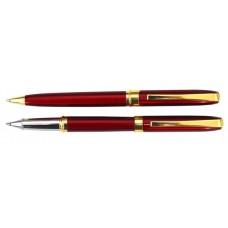 Набор: ручка шариковая и роллер Cabinet Mayer, корпус красный