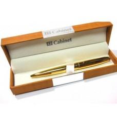 Ручка шариковая Cabinet Miracle, корпус золотистый