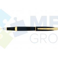 Ручка перьевая Cabinet Geneva, корпус черный с золотистым