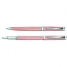 Набор: ручка шариковая и роллер Cabinet Kristin, корпус розовый