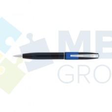 Ручка шариковая автоматическая Economix, черный корпус с синей полосой, в подарочной коробке