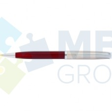 Ручка шариковая автоматическая Economix, красный корпус + металл, в подарочной коробке