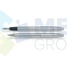 Набор: ручка шариковая и перьевая Scrikss Metropolis, корпус сталь