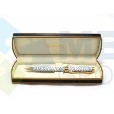 Ручка шариковая SZ.Leqi MARBLE, корпус серый