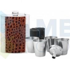 Набор подарочный Cabinet: фляга, стаканчик, воронка