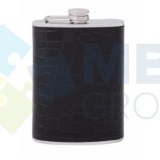 Фляга из нержавеющей стали Cabinet, 240 мл, черная