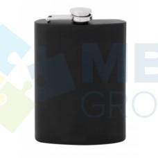 Фляга из нержавеющей стали Cabinet, 240 мл, черная, матовая