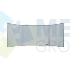 Доска маркерная сухостираемая ABC office (300x100), в алюминиевой рамке X-line, трехсекционная