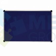 Доска текстильная ABC office (100x65), в алюминиевой рамке S-line, синяя