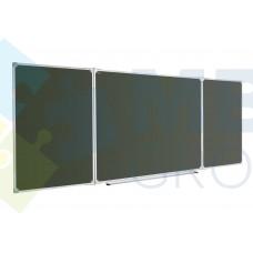 Доска для мела ABC office (300x100), в алюминиевой рамке X-line, трехсекционная