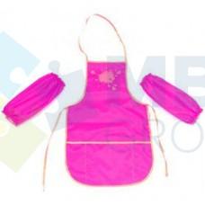 Фартук для детского творчества со спинкой Cool for school, розовый