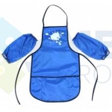 Фартук для детского творчества с нарукавниками Economix, голубой