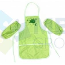 Фартук для детского творчества с нарукавниками Economix, салатовый